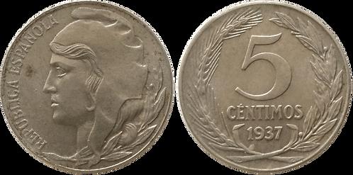 5 CTS. 1937. SC- (Cabeza Grande)