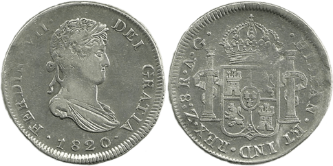 1820_ZACATECAS.AG. 8 Reales. MBC+