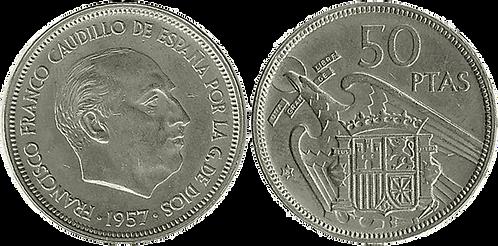 50 PESETAS, 1957 (*58). EBC