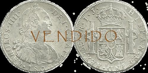 CARLOS IV. 1800_LIMA, IJ. 8 reales. MBC+