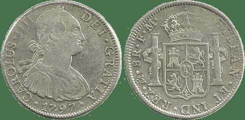 CARLOS IV. 1797_MEJICO, FM. 8 reales. MBC+/EBC-