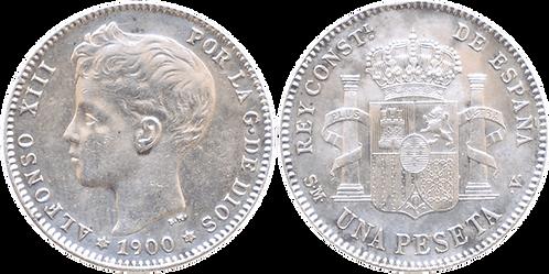 1 PESETA, 1900 (*19, *00). SMV. EBC-