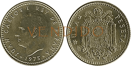 1 PESETA, 1975 (*19, *80). SC