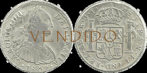 CARLOS IV. 1807_LIMA, JP. 8 reales. MBC+