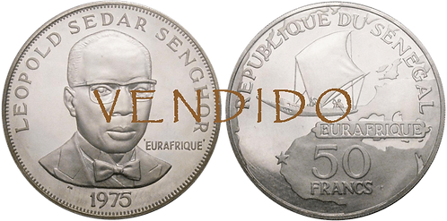 SENEGAL, 50 FRANCS, 1975. PROOF.