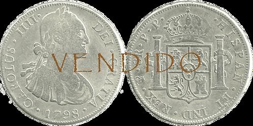 CARLOS IV. 1798_POTOSI, PP. 8 reales. MBC-/MBC