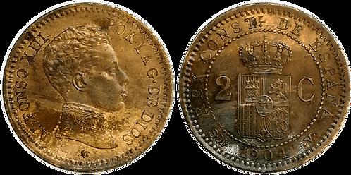 2 CTS. 1904. (*04).  SC