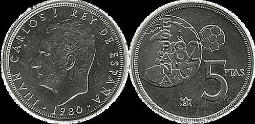 5 PESETAS, 1980 (*81). SC