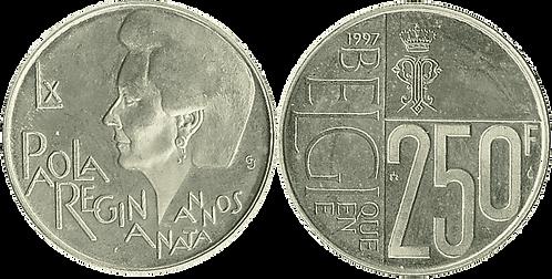 BÉLGICA, 250 FRANCOS, 1997 (PROOF)