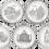 Thumbnail: UNESCO 1ª SERIE 5 Monedas de 2000 PESETAS 1996