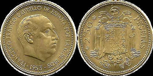 2,50 PESETAS, 1953 (*54). SC-