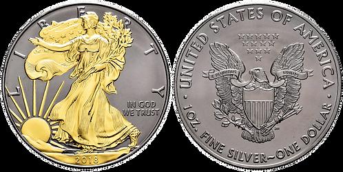ESTADOS UNIDOS, 1 DÓLAR. 2018. (PROOF) Partial Gold Plated Edi