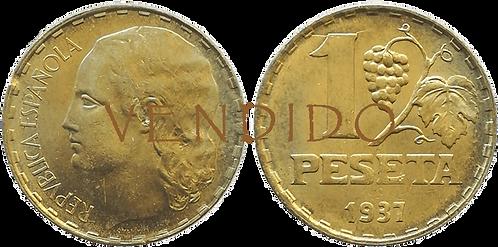 1 PESETA. 1937. SC