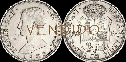 1809_MADRID, AI. 20 Reales. MBC+/EBC-