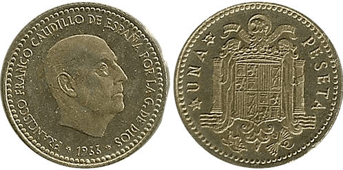 1 PESETA, 1966 (*72). PROOF