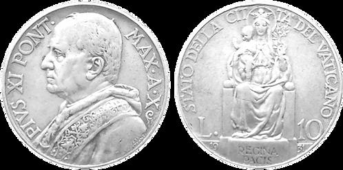 VATICANO, 10 LIRAS, 1931. (MBC+)