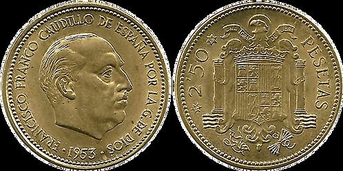 2,50 PESETAS, 1953 (*56). SC
