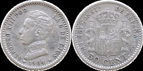 50 CTS. 1904 (*0, *4). EBC-