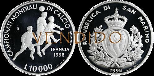 SAN MARINO, 10000 LIRAS, 1998  (PROOF)