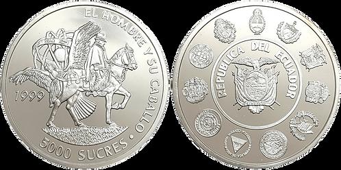ECUADOR, 5000 SUCRES, 1999. (PROOF)