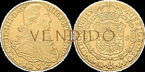 CARLOS IV. 1802_NUEVO REINO, JJ. 8 escudos. MBC+/EBC-
