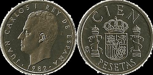100 PESETAS, 1982, PROOF