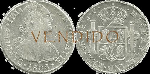 CARLOS IV. 1808_LIMA, JP. 8 reales. MBC/MBC+