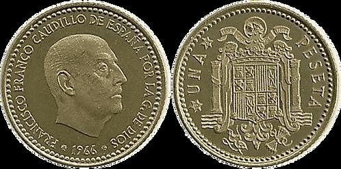 1 PESETA, 1966 (*75). PROOF