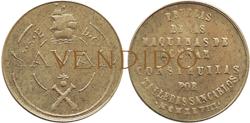PRUEBA DE MAQUINAS. TALLERES SAN CARLOS. NAVAL 1948. RVSO. COINCIDENTE. EBC