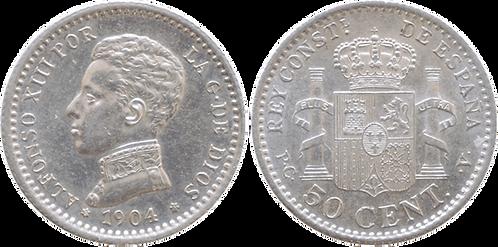50 CTS. 1904 (*1, *0). SC-
