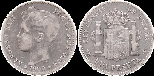 1 PESETA, 1900 (*__, *__). SMV. MBC-