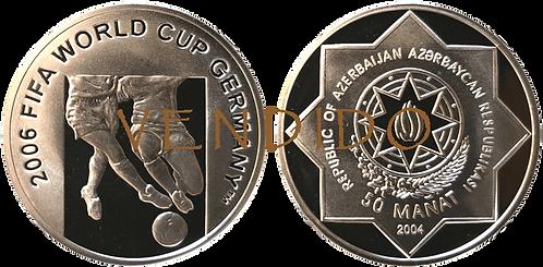 AZERBAIJAN, 50 MANAT, 2004. PROOF