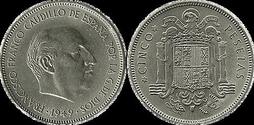 5 PESETAS, 1949, (*50). EBC-