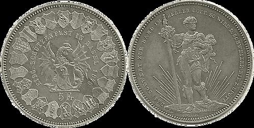 SUIZA, 5 FRANCOS, 1879  (S/C-)