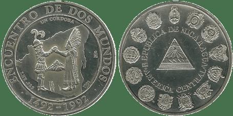 NICARAGUA, 1 CÓRDOBA. 1991. (PROOF)