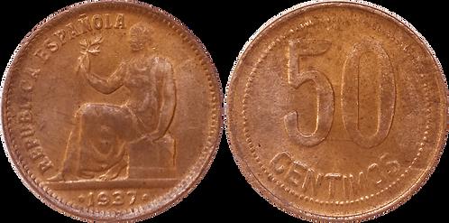 50 CTS. 1937. (*3,*4). MBC+ (casi EBC-)