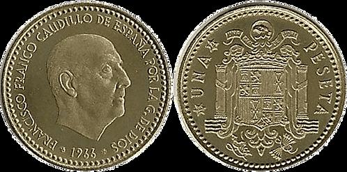 1 PESETA, 1966 (*73). PROOF