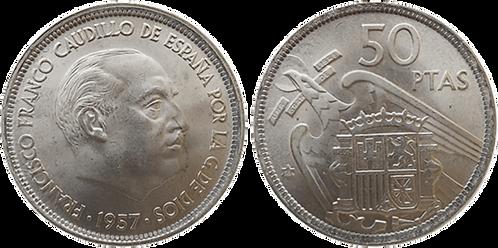 50 PESETAS, 1957 (*58). SC