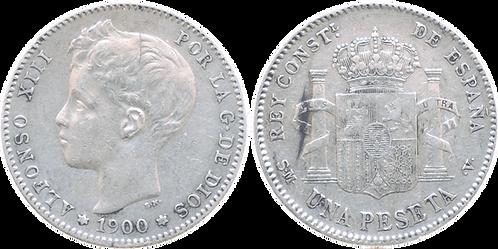 1 PESETA, 1900 (*__, *00). SMV. MBC+