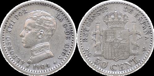 50 CTS. 1904 (*1, *0). MBC+