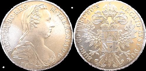 AUSTRIA, 1 THALER, 1780. (SC). Reacuñación.