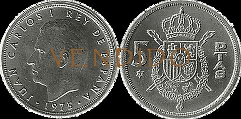 5 PESETAS, 1975 (*78). SC