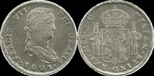 1821_ZACATECAS.RG. 8 Reales. EBC-