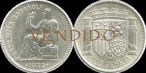 1 PESETA. 1933 (*3,*4). SC