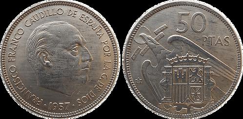 50 PESETAS, 1957 (*71). EBC+