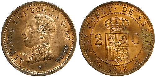 2 CTS. 1912. (*12).  SC