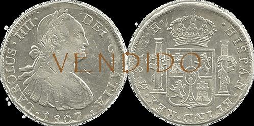 CARLOS IV. 1807_MEJICO, TH. 8 reales. MBC+