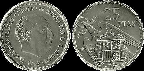 25 PESETAS, 1957 (*75). SC