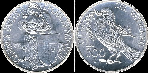 VATICANO, 500 LIRAS, 1993. (SC)