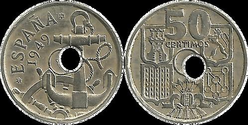 50 CTS. 1949 (*56). EBC-. Agujero desplazado